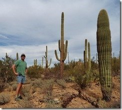 Ray with his Saguaro friends
