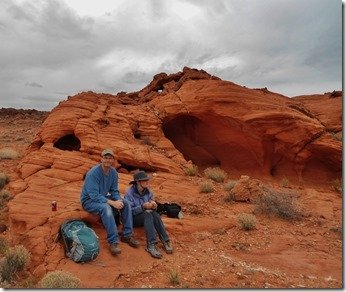 Lunch break in the Valley of Fire